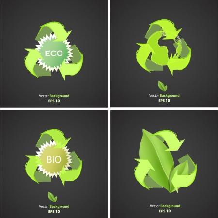 ecologic: Conjunto de iconos ecol�gicos. Dise�o vectorial. Vectores