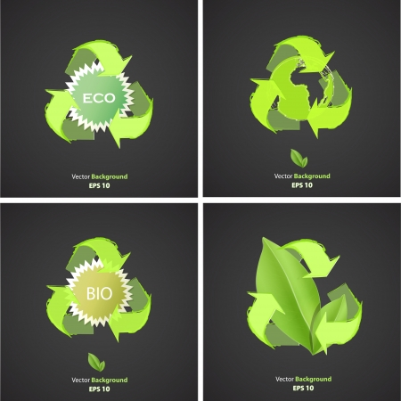 Set of ecologic icons. Vector design.  Vector