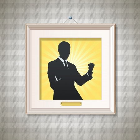 Silhouette of business man winner. Vector design.  Vector