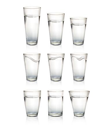 Set of realistic water glasses  Vector design Stock Vector - 24119849