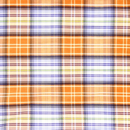 Orange and blue checkered pattern texture. Abstract background  photo