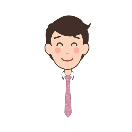 happy businessman: Happy businessman over isolated background. Vector design. Illustration