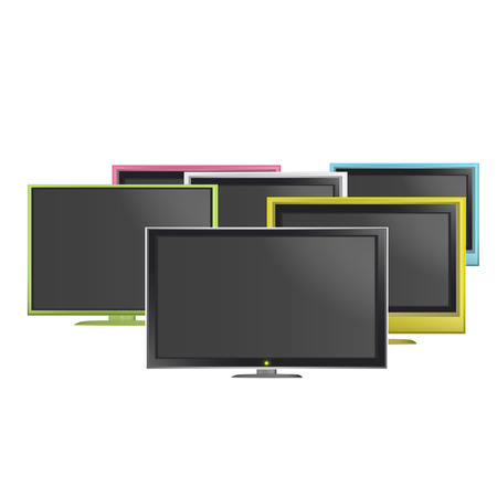 Collection of colorful TV over white background. Vector design.  Stock Vector - 24377840