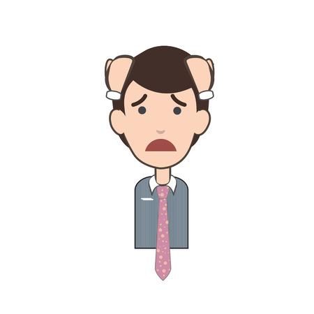 empresario triste: Hombre de negocios triste sobre fondo blanco. Dise�o vectorial