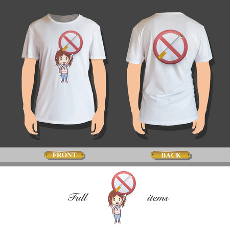 Kid holding prohibited sign printed on shirt  Vector design Stock Vector - 24377943