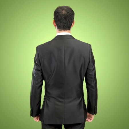 businessman back over isolated white background  photo
