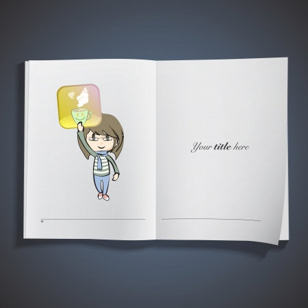 Kid around icon printed on book Vector
