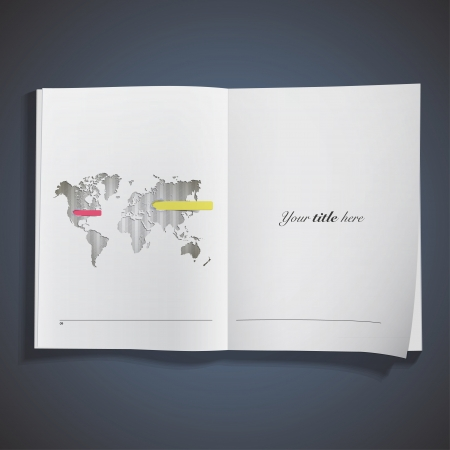 Worlds map printed over book. Vector design. Stock Vector - 25284724