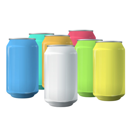 Colorful tins. Vector design  Vector