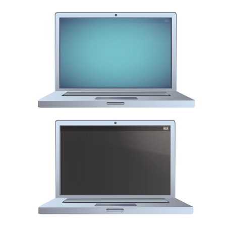 Modern laptops over white background  Vector design   Vector