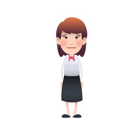 Young woman surprised over white background. Vector design.  Vector