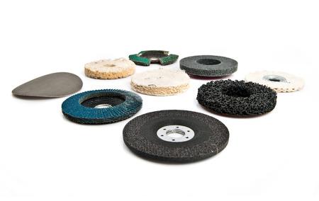 ironmongery: disco de hardware de ferreter�a sobre fondo blanco aisladas Foto de archivo