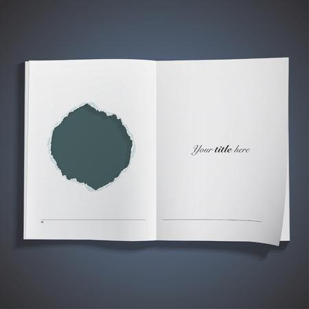 Green hole printed on book. Vector design Stock Vector - 26481641