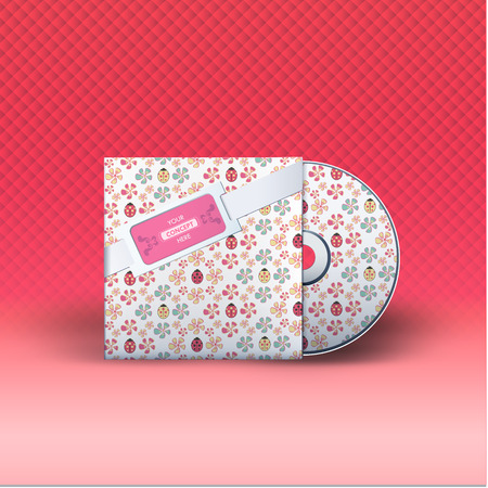 dvd case: Cd with cover. Vector design.  Illustration