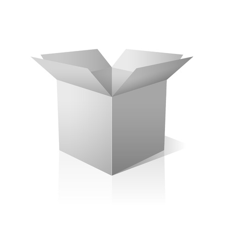 Isolated open white box. Vector design.  Vector