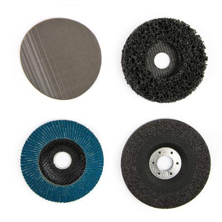 ironmongery: discos de hardware de ferreter�a sobre fondo blanco aisladas