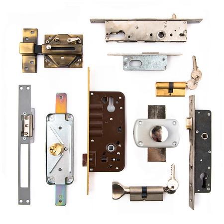hardware elements over isolated white background  photo