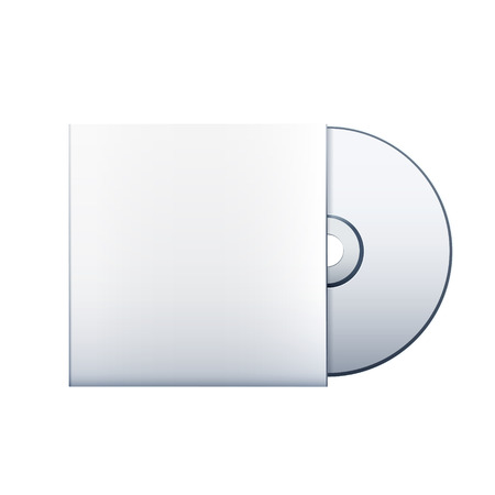 compact disc: Blank cd isolated over white background.  Illustration