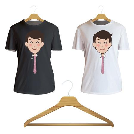camicia bianca: Uomo felice stampato sulla camicia bianca