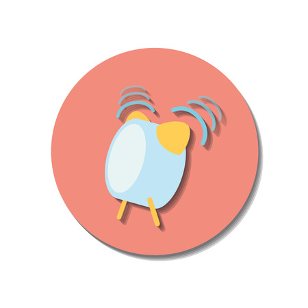 watch over: Icon web of watch over white background Illustration