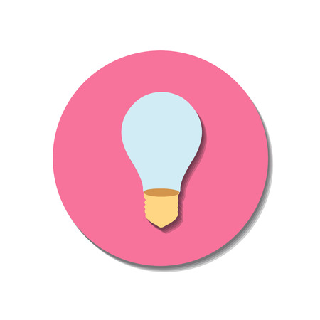 Icon web of bulb over white background Vector