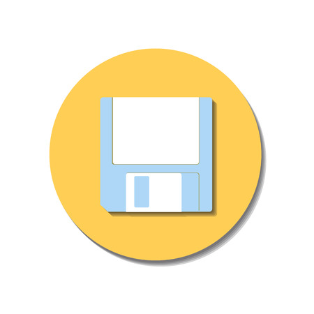 Icon web of diskettes over white background Vector