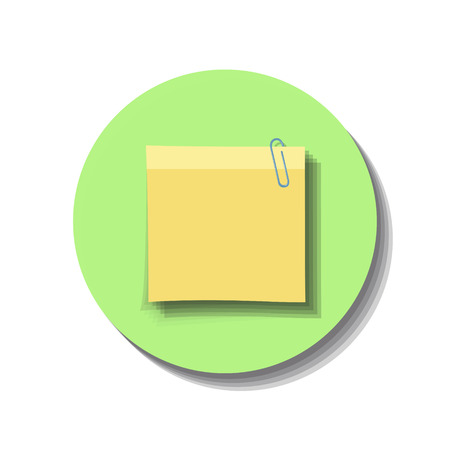 Icon web of note over white background
