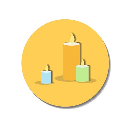 multiple birth: Icon web of candles over white background