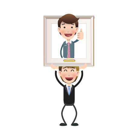 Business people inside frame over white background  Vector