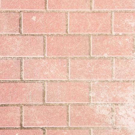 pavement: Pink rectangle pavement tiles. Texture background.  Stock Photo