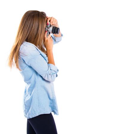 gir: Gir photographing over white background