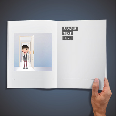Business people with door Vector