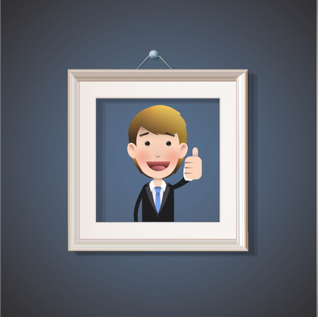 Business people inside framework Vector