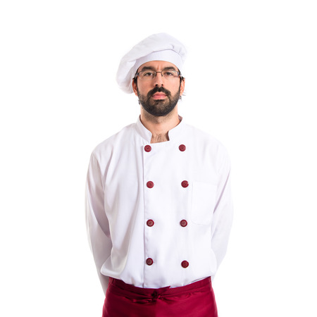Chef over white background photo