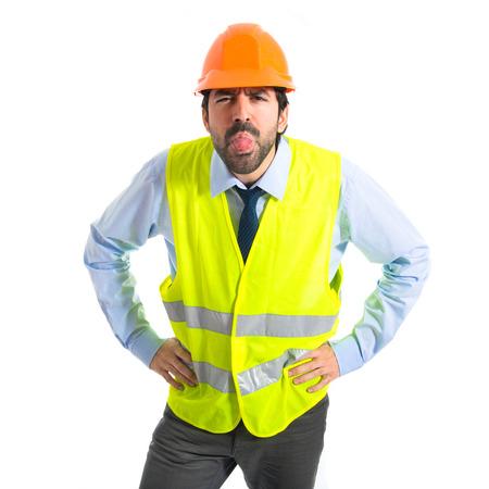 joke: Workman doing a joke