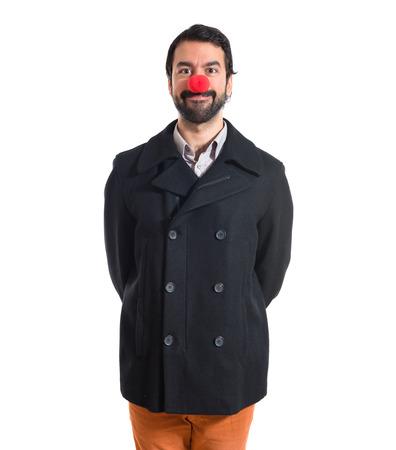 nez de clown: Bel homme avec nez de clown