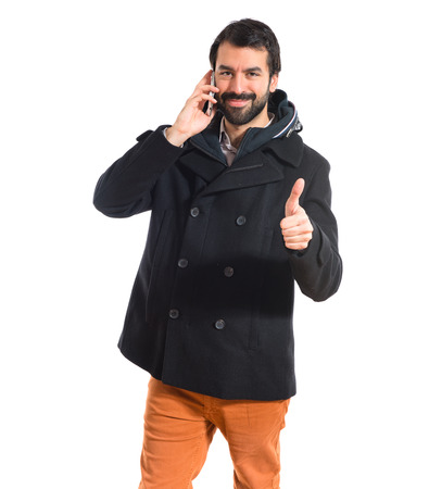 Man talking to mobile photo