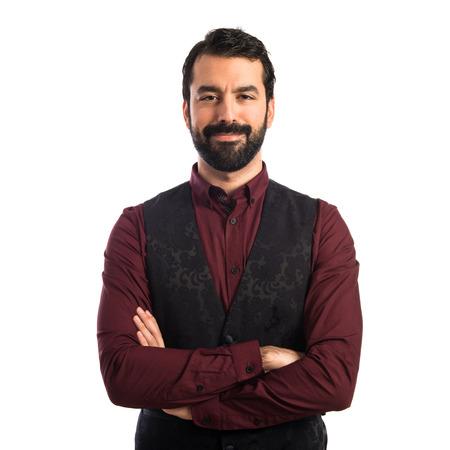 Man wearing waistcoat photo