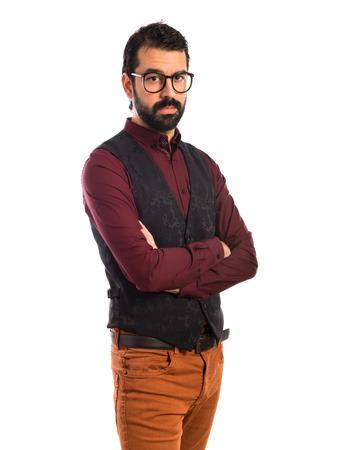 waistcoat: Man wearing waistcoat