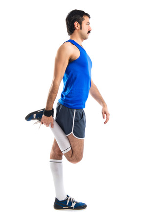 sportman: Vintage sportman stretching