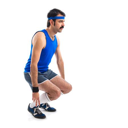 sportman: Crazy sportman stretching