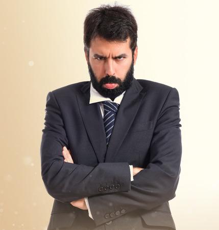 sad businessman: Sad businessman over white background Stock Photo