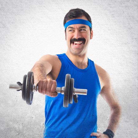 sportman: Sportman doing weightlifting