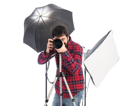 Photographer in his studio photo