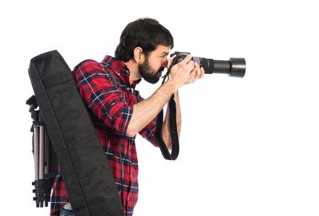 Photographer taking a photo photo