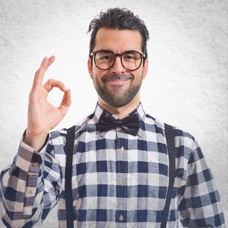 posh: Posh boy making Ok sign