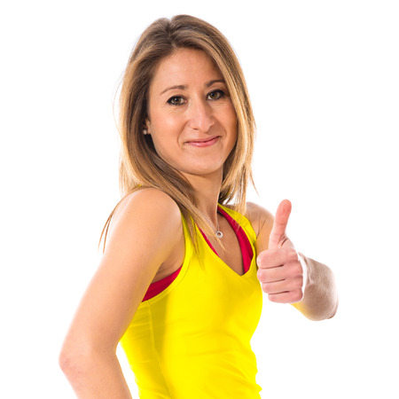 sport woman: Sport woman with thumb up