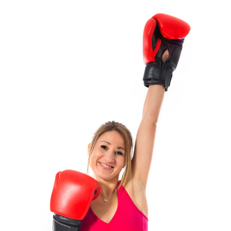 sport woman: Sport woman with boxing gloves