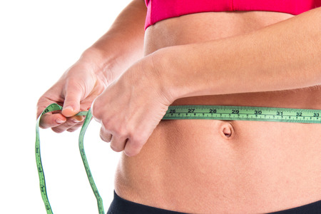 blonde hispanic: Slim woman with perfect body