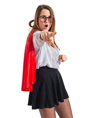 dressed: Girl dressed like superhero